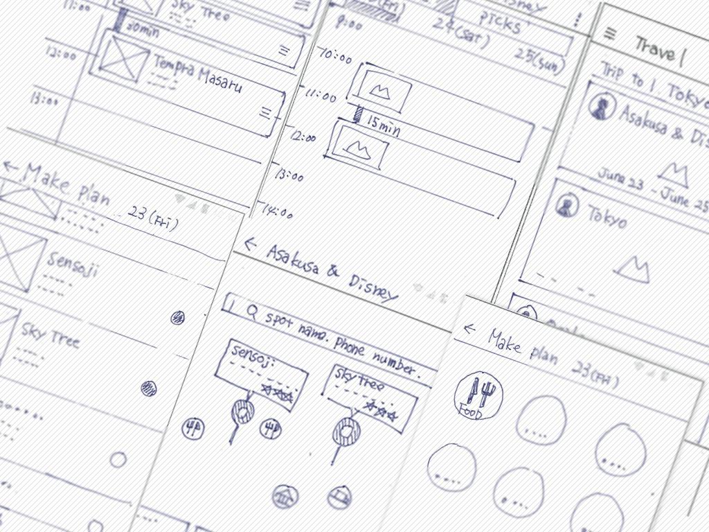 UIUX「旅行プラン作成アプリ」プロトタイプ作成